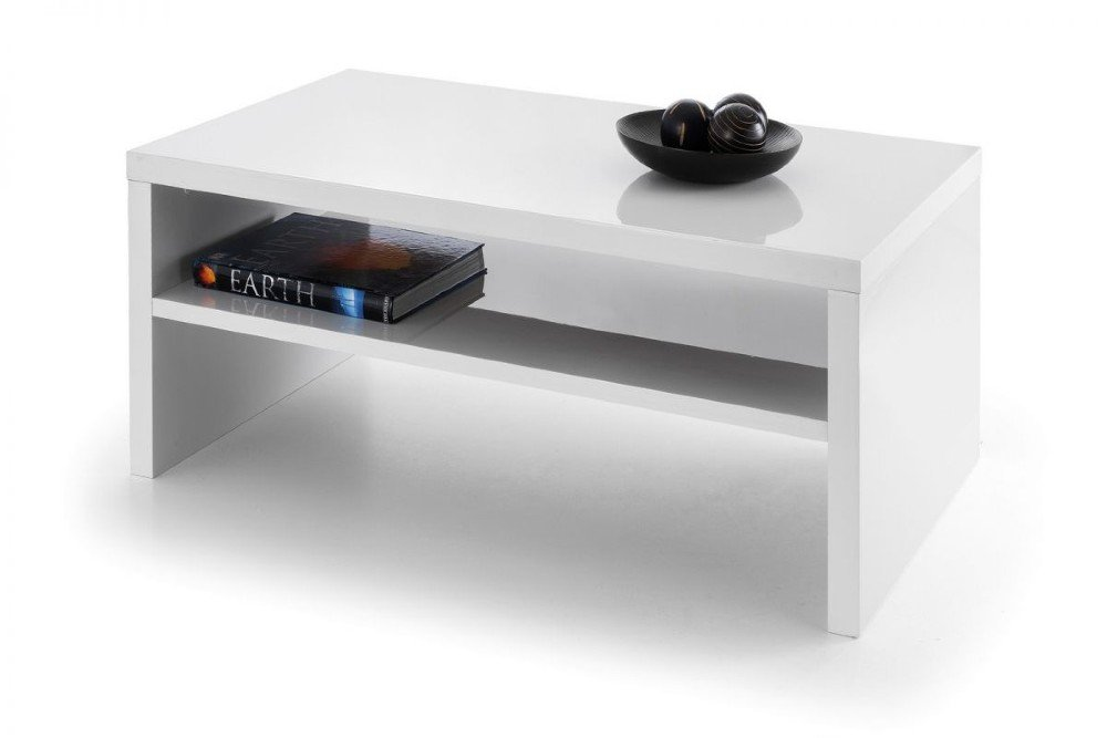 white high gloss coffee table living room furniture book white