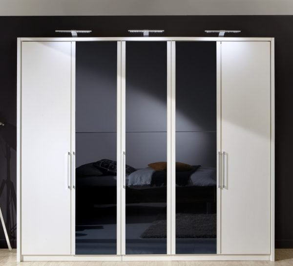 Berlin-in-white-with-black-glass-five-door-hinged-robe-from-Wiemann-small