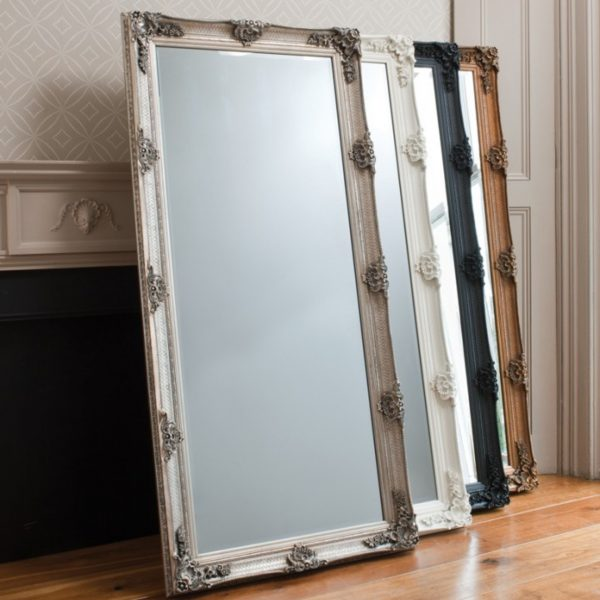 abbey leaner tall gold decorative antique mirror