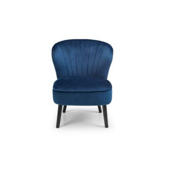 julian bowen coco fabric blue chair