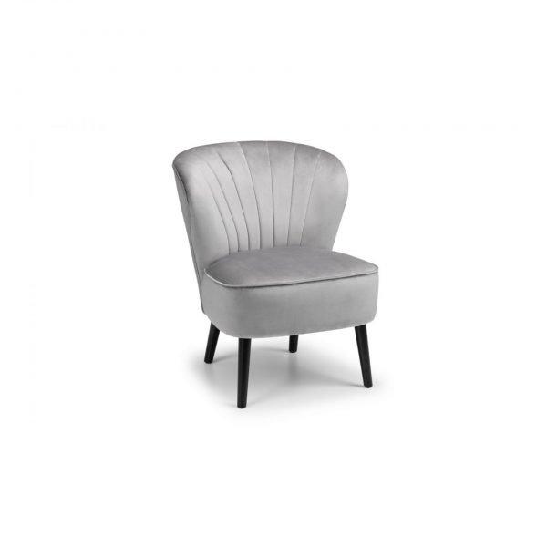 julian bowen coco fabric grey chair