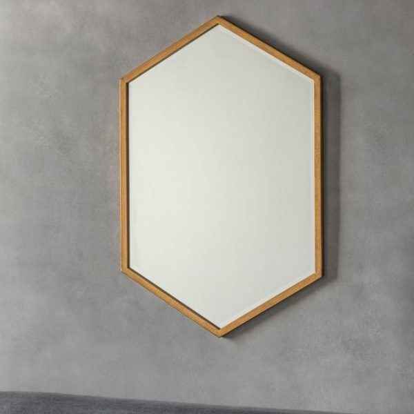 gold hexagon mirror helton