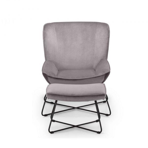 julian bowen mila velvet accent grey teal chair stool