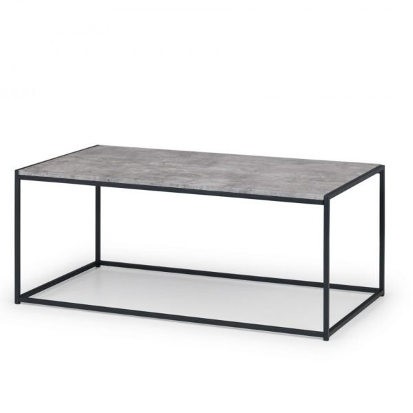 julian bowen staten coffee table Concrete Effect cowder Coated Steel
