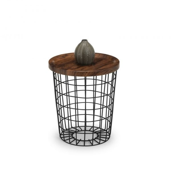 julian bowen smithson coffee table wood walnut storage metal