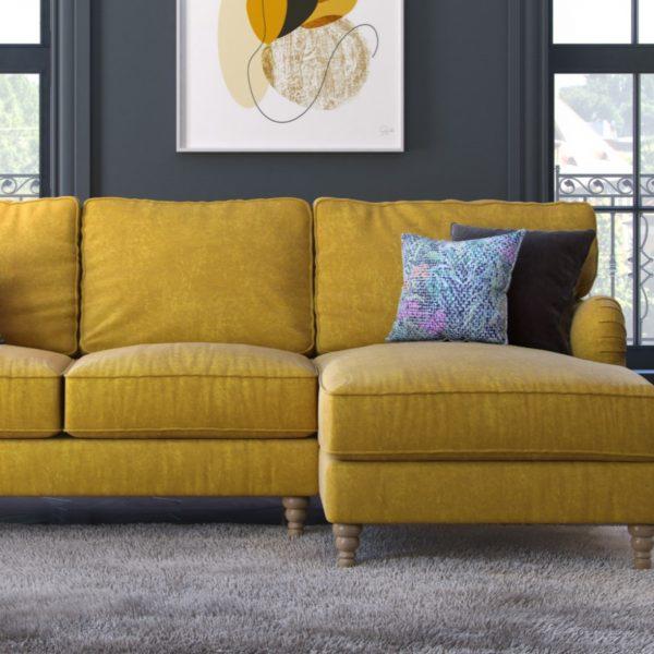 beatrix sofa armchair yellow